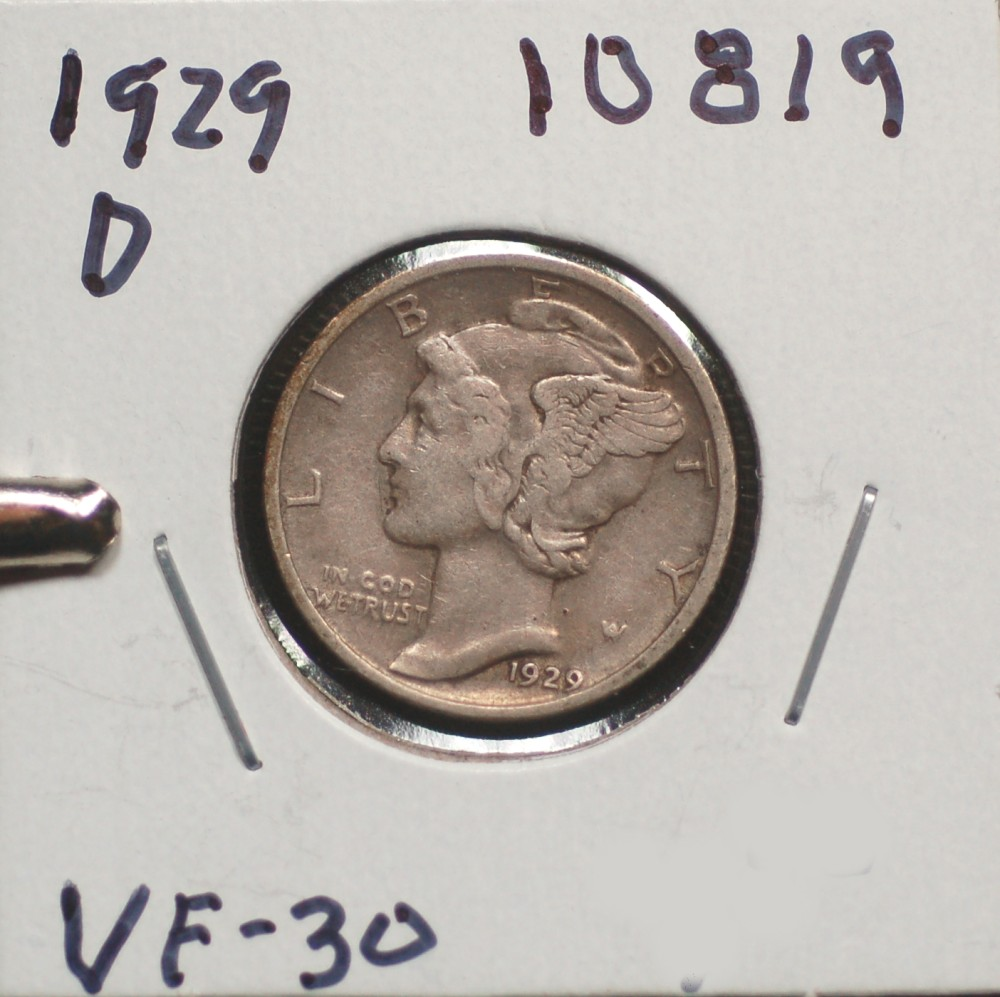 1929 D Mercury Dime for sale.