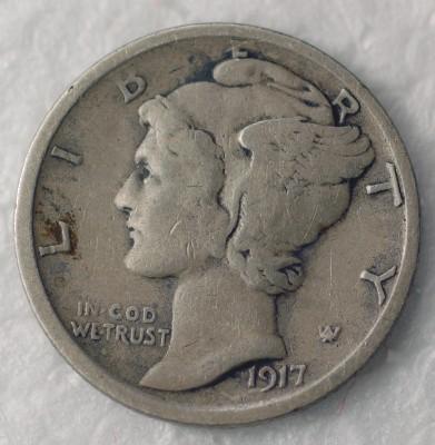 1917 S Mercury Dime for sale.