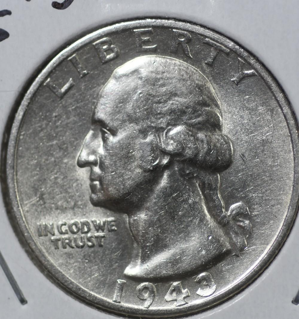 1943 S Washington Quarter for sale.