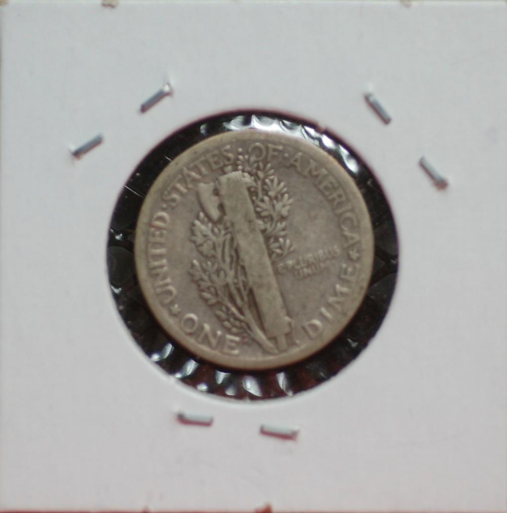 1918 Mercury Dime VG10 for sale.