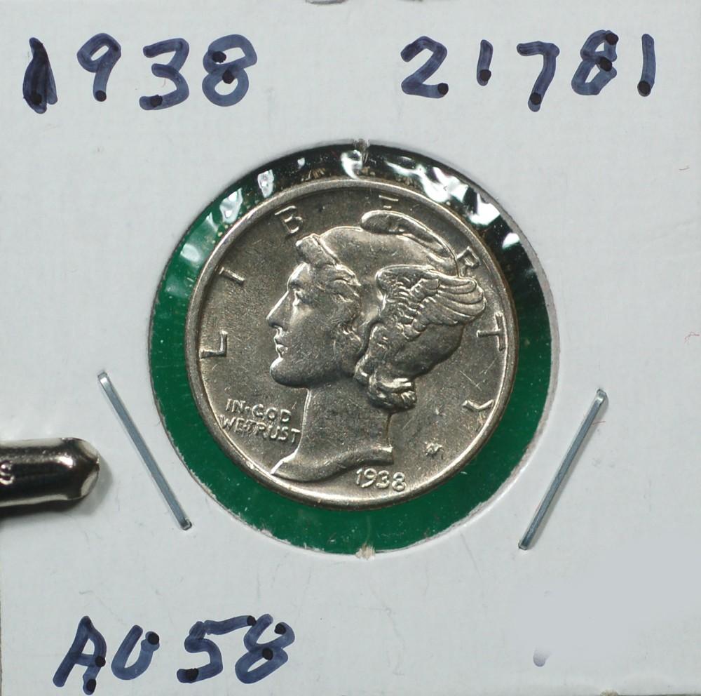 1938 Mercury Dime Blast White for sale.