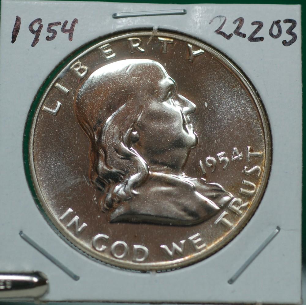 1954 Franklin Half Dollar for sale.