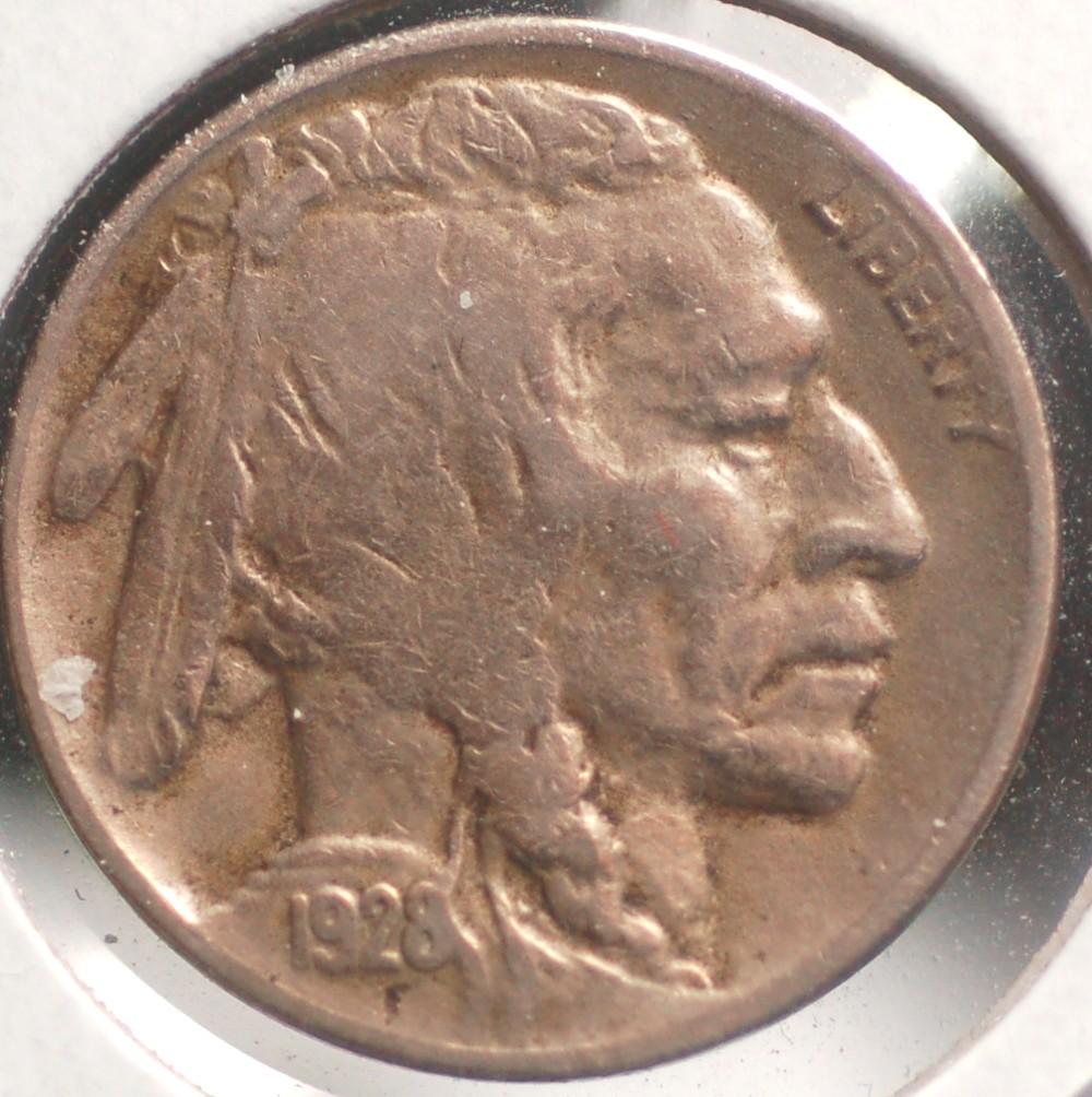 1928 D Buffalo Nickel T-2 for sale.