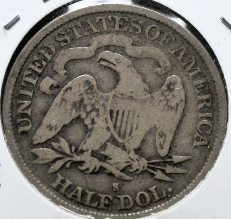 1872 S Liberty Seated Half Dollar No Arrows With Motto WB-102 VG8 for sale.