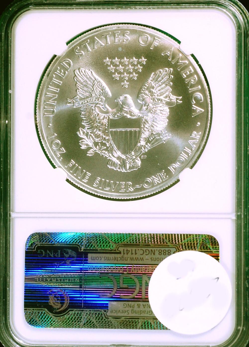 2011 W Silver Eagle PCGS Blue Label F. S. 25th Anniversary MS-70 for sale.
