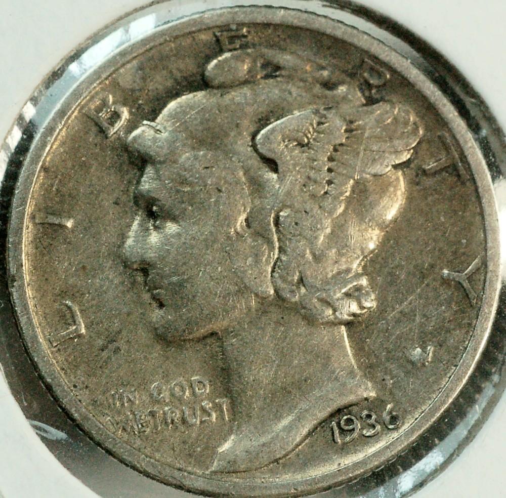 1936 Mercury Dime for sale.