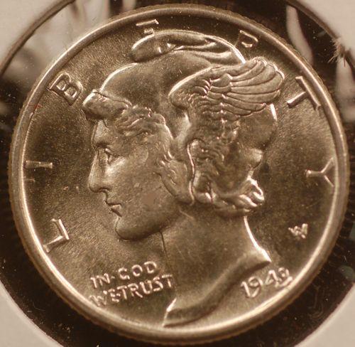 1943 Mercury Dime for sale.
