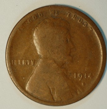 1914 S Lincoln Cent for sale.