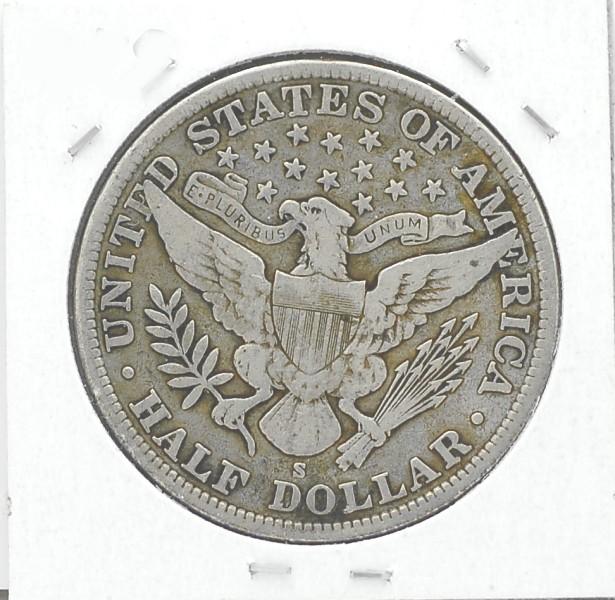 1905 S Barber Half Dollar F12 for sale.