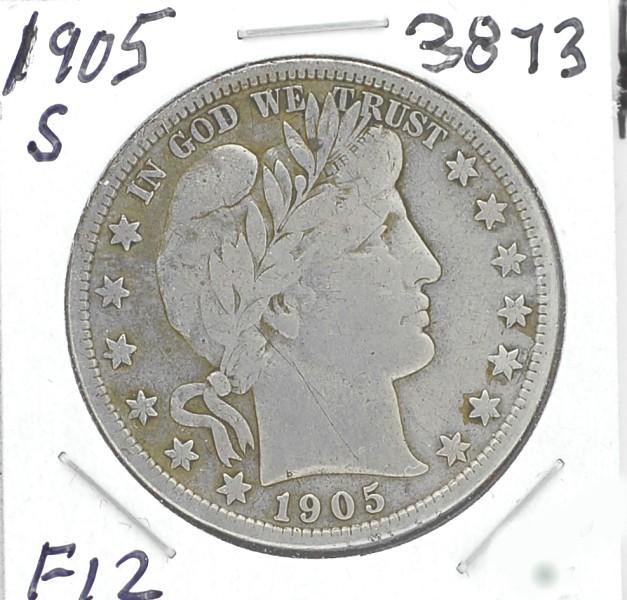 1905 S Barber Half Dollar for sale.