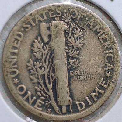 1918 S Mercury Dime VG10 for sale.