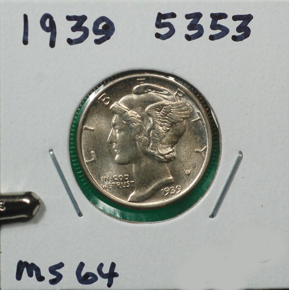 1939 Mercury Dime for sale.