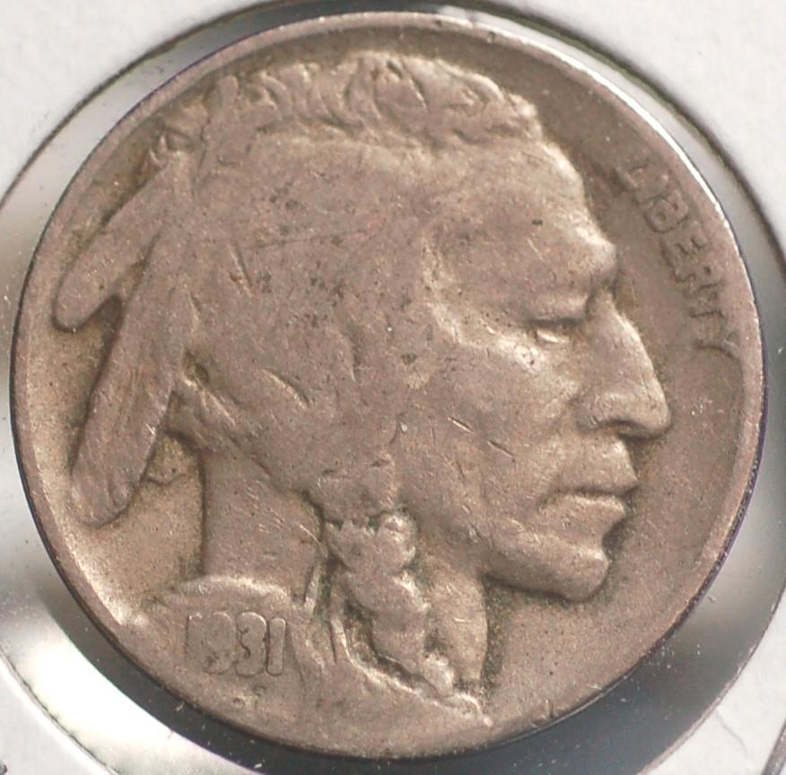 1931 S Buffalo Nickel T-2 for sale.