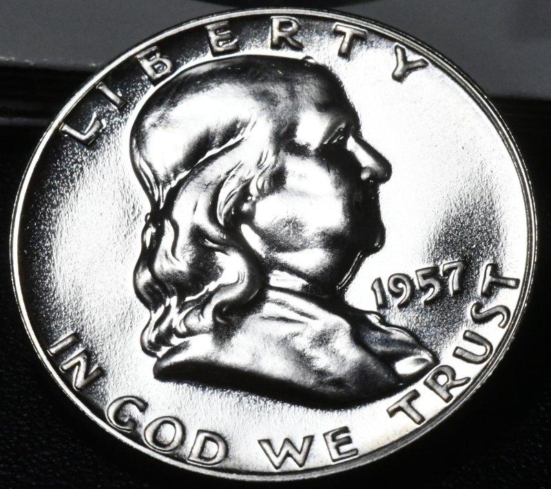 1957 Franklin Half Dollar for sale.