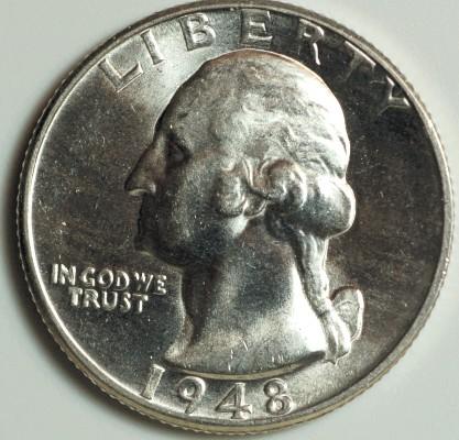 1948 D Washington Quarter for sale.