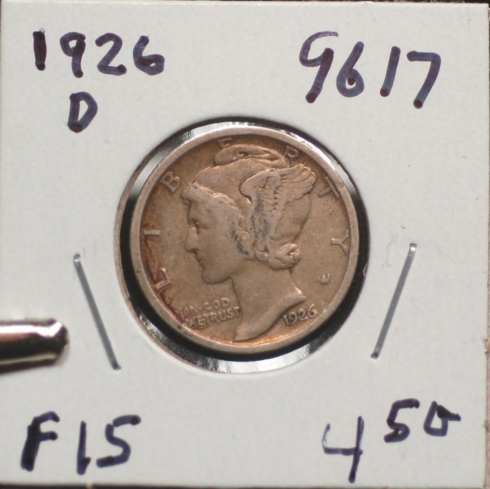 1926 D Mercury Dime for sale.