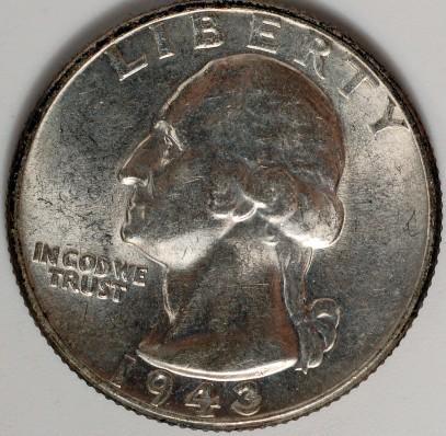 1943 Washington Quarter for sale.